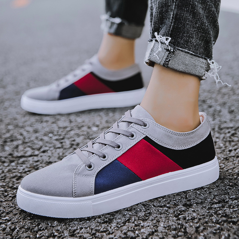 REETENE 2019 New Cheapest Casual Shoes Men Autumn Spring Casual Shoes Mens Canvas Shoes For Men Lace Up Flat Loafers ShoesMens Casual Shoes   -
