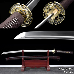 Gerçek katana kılıç-1060 karbon çelik el yapımı tam Tang keskinlik için hazır kesme 41 Inchese/ücretsiz kargo -ejderha kılıç