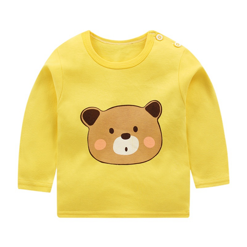 Autumn Winter Kids Sweatshirt Tops New Pullover Tee Long Sleeve T-shirt Baby Boys Girls Clothes 5