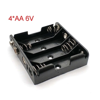 4 Pack AA Battery Case Box 4*AA Battery Holder With 9V Male And Female image