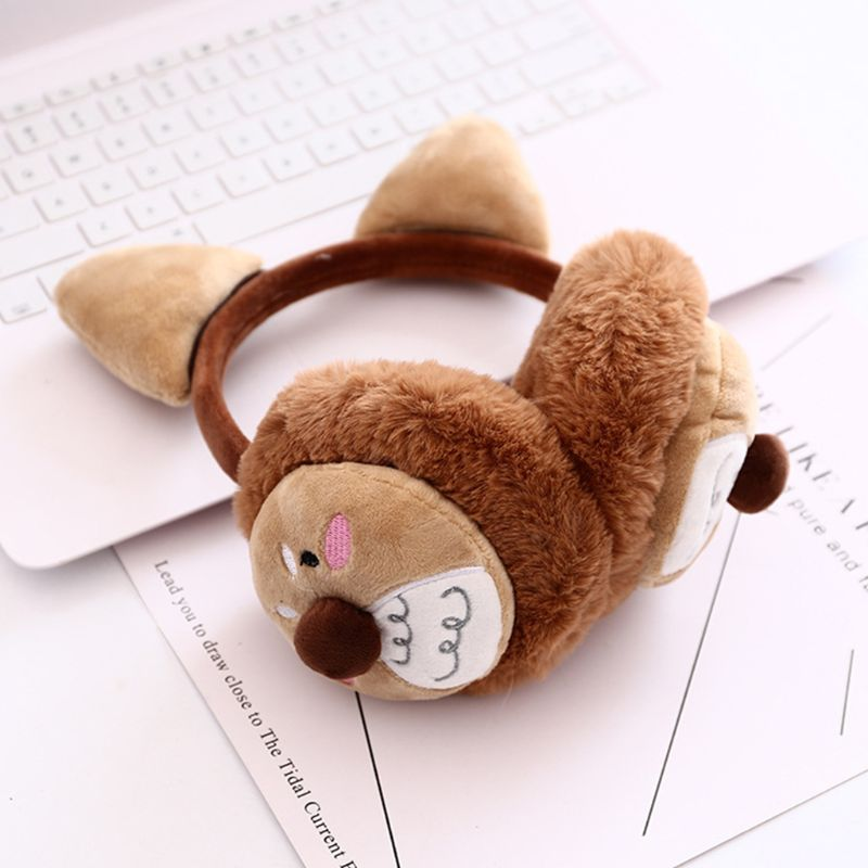 2019 New Womena Winter Christmas Plush Earmuffs Cartoon Reindeer Antler Party Ear Warmer