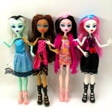 4 יח\חבילה חדש סגנון כיף מפלצת גבוהה בובות מפלצת Draculaura גובה נייד משותפת, ילדים מתנה הטובה ביותר סיטונאי אופנה בובות