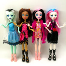 4 unids/lote nuevo estilo monster fun high Dolls Monster Draculaura hight movible Joint, los niños mejor regalo al por mayor muñecas de moda(China)