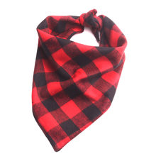 20PC/Lot High Quality Plaid Dog Bandana Scarf Collars Cotton Large Dog Ties Bibs Pet Accessories(China)