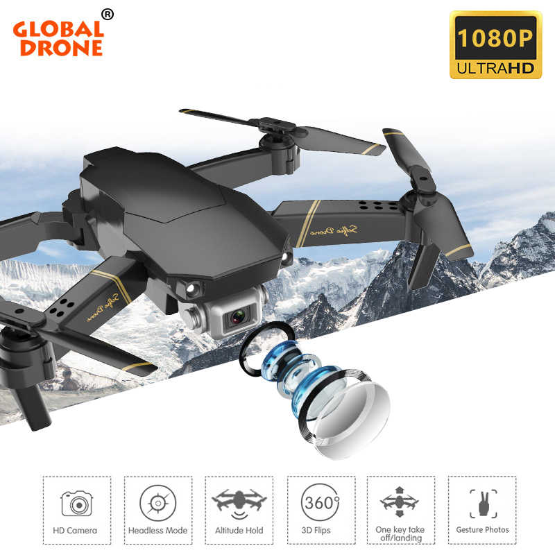 Global Drone EXA Kamera Drone Quadrocopter FPV Mini Drone Quad Mainan RC Helikopter Quadcopter dengan Kamera 1080P HD Vs e58 E520