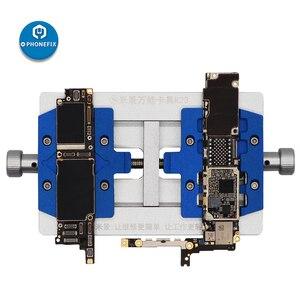 Image 3 - Mj k23 duplo eixo pcb suporte de solda para o reparo do iphone placa mãe reparação de solda dispositivo elétrico para samsung ferramenta de reparo de soldagem