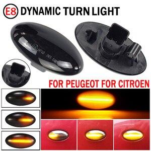 Image 1 - 2pcs Led Dynamic Side Marker Turn Signal Light Sequential Blinker Light Amber Indicator For Toyota Aygo Fiat Scudo For Peugeot