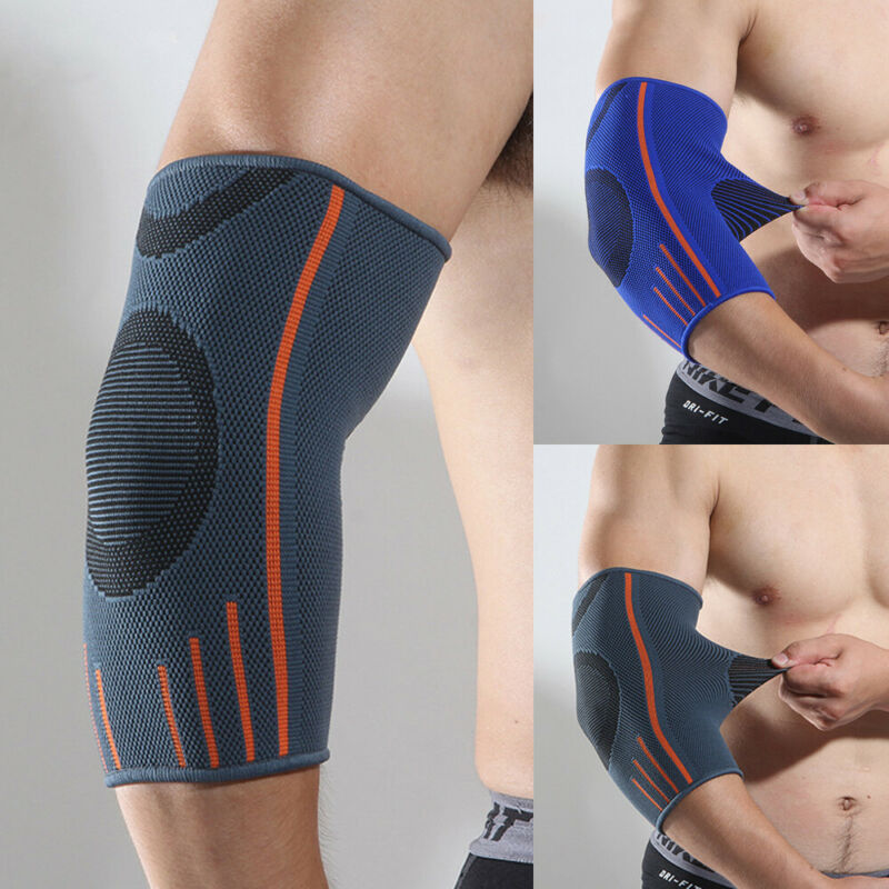 Men Arm Elbow Protective Sleeve Sprains Strains Dislocation  Arthritic Wrap Pads Elastic Protective Bandage Gym Sport Supplies