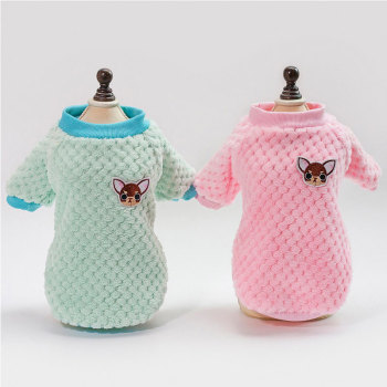 Cute Winter Dog Sweater Pet Warm Fleece Clothes For Small Medium Dogs Coat Jacket Cotton French Bulldog Clothing Pet Supplies image