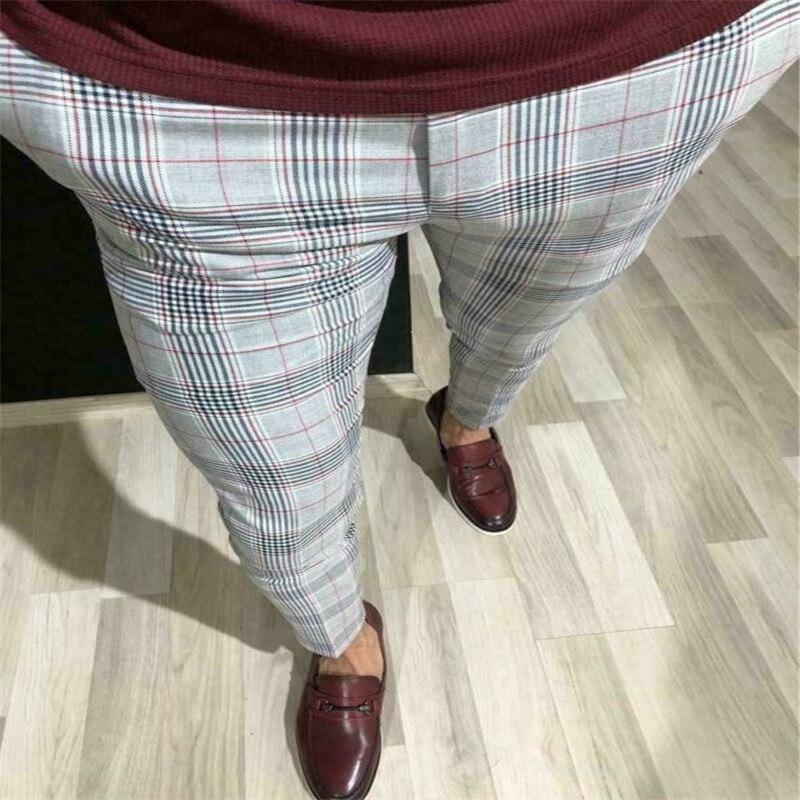 Moda Novedosa De Talla Grande 3xl Para Hombre Traje Informal Ajustado Formal De Negocios Pantalones Pantalones A Cuadros Pantalones Nuevos Triangulacion De Envios Aliexpress