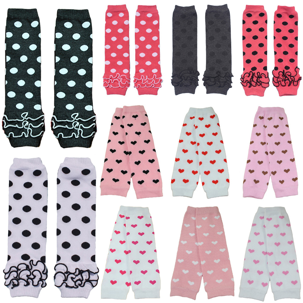 Baby Toddler Girl Kid Heart Polka Dots Arm Leg Warmers Cotton Warm Socks Tights WATXW0507