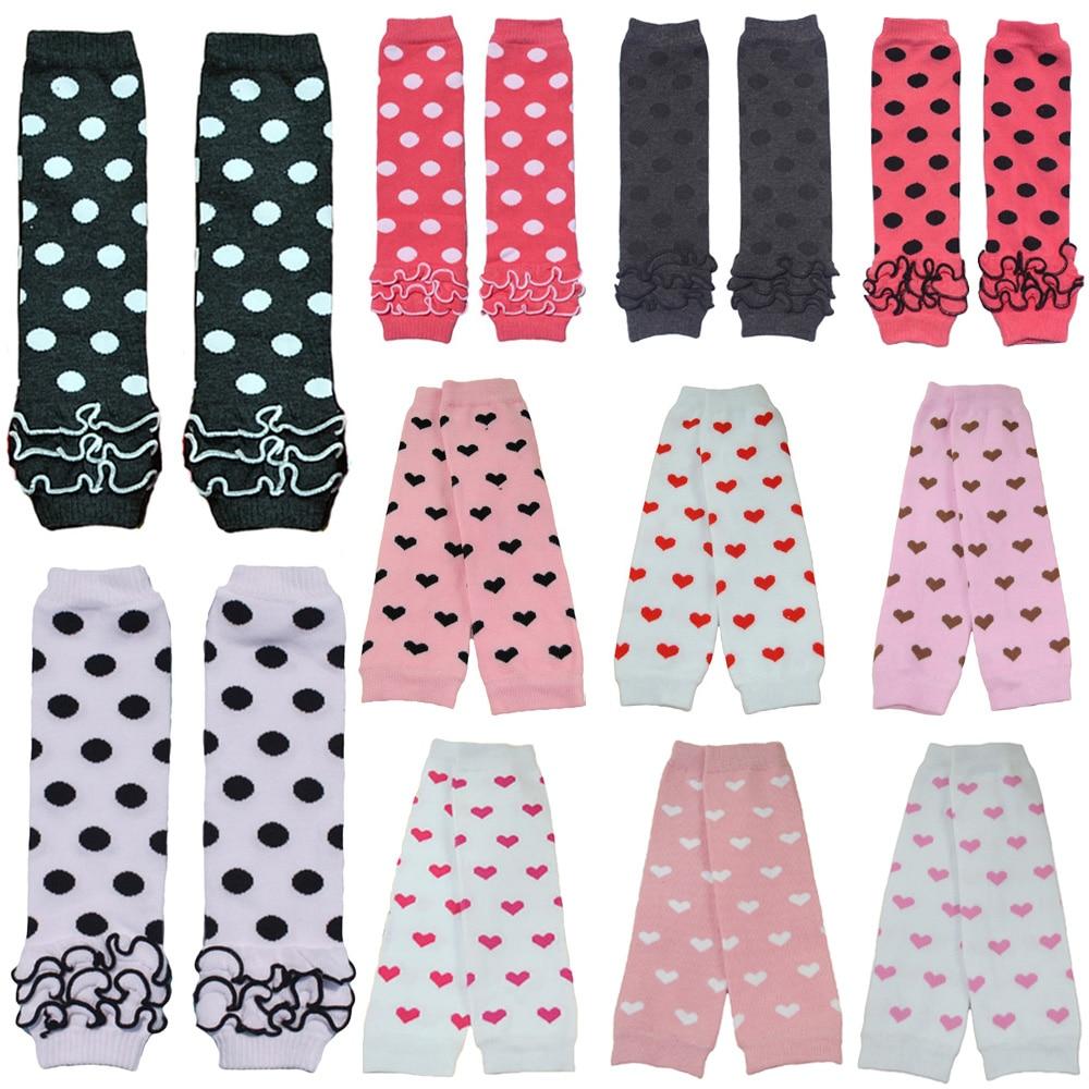 Baby Toddler Girl Kid Heart Polka Dots Arm Leg Warmers Cotton Warm Socks Tights WATXW0507