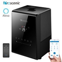 Proscenic 808C Humidifier for Bedroom 5.3L, App and Alexa Control, Essential Oil Diffuser, Timer, Customized Humidity Baby Mode