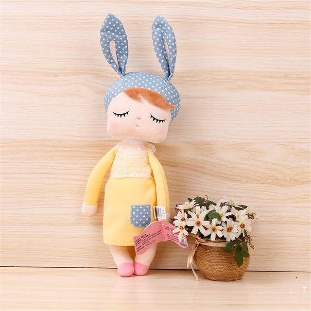 Hobbylane 34cm Doll Stuffed Toys for Boys Girls Kawaii Baby Angela Soft Bunny Dolls