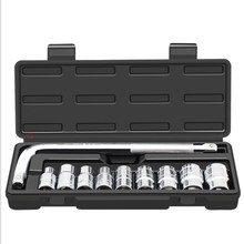 A 10-piece l-Bar Tire Removal Kit With On-board Change Tool Removing Socket Wrench