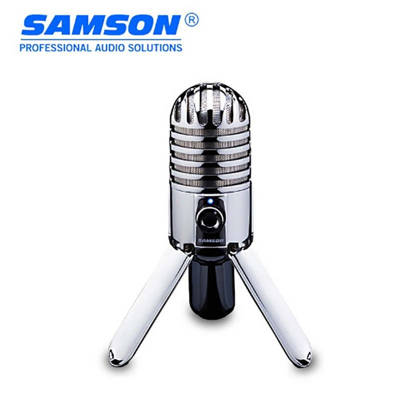Samson Meteor Mic Recording Condenser Microphone Fold-back Leg With USB Cable Carrying Bag For Computer Conference Microphone