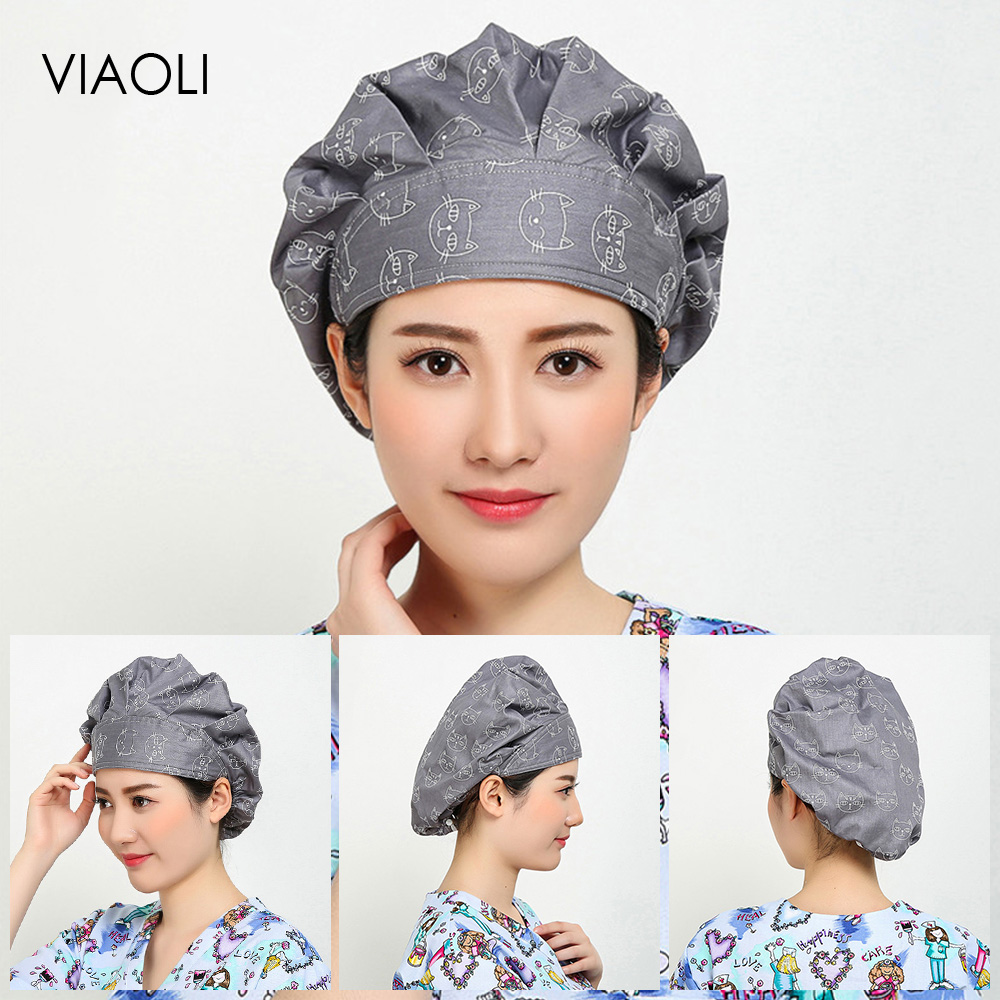 New Pet Hospital Operating Room Hat Medical Work Caps Surgical Cap Women Doctor Surgery Caps Nursing Medical Accessories Unisex