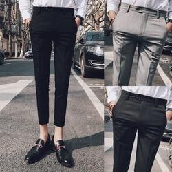2018 männer Sommer Jugend Mode Lässig Capri Hosen Korean-stil Trend Slim Fit Beliebte Capri Anzug Hosen