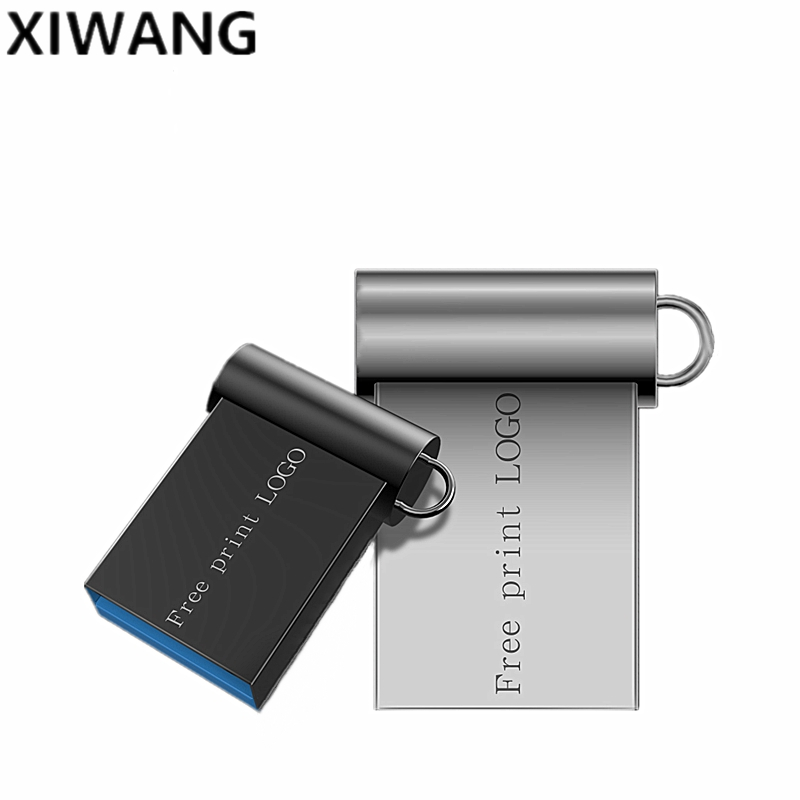 Flash Memory Stick 32gb Super Mini Usb 3.0 Metal Usb Flash Drive 64gb 128gb Pendrive 16gb Pen Drive 8gb U Disk Free Custom Logo