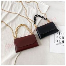 Fashionable Mini Lady Bag Covered Leather Shoulder Crossbody Chain Tote Simple Wild Diagonal Small Square