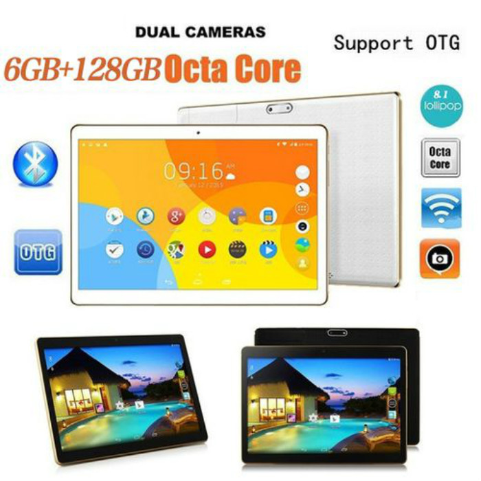 Tablet 10.1 Inch Tablets Android 8.1 Memory With 6+128GB Dual SIM Cards Phone 4G Call Wifi Tablets PC  Cheap Tablets Pc