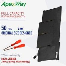 """Apexway Laptop Batterij Voor Macbook Air 13 """"Model A1369 Mid 2011, a1466 A1405 Batterij 020 7379 A MC965 MC966 MD231 MD232 20"""