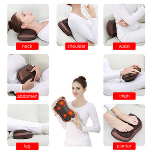 Image 5 - Car Home Electric Infrared Neck Massage Pillow Shiatsu Cushion Massager Neck Back Waist Body Heating Kneading Massager Pillow