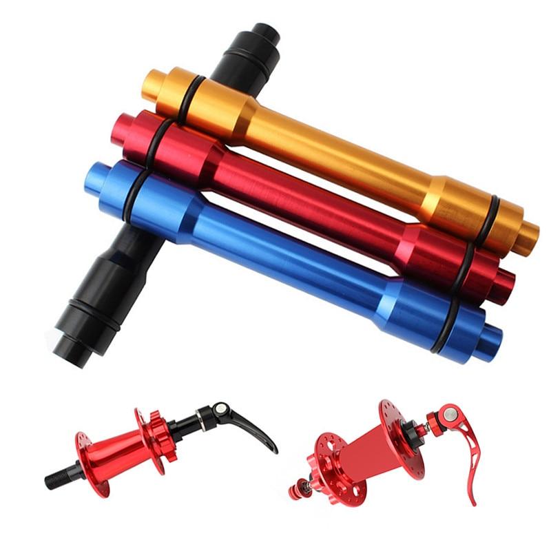 Практичный быстроразъемный адаптер 100 мм для переднего колеса велосипеда высококачественный алюминиевый сплав 15 мм до 9 мм для горного велосипеда qr-адаптер