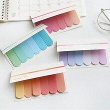 120 páginas gradiente criativo notas pegajosas adesivo índice postado ele planejador adesivos blocos de notas material escolar de escritório