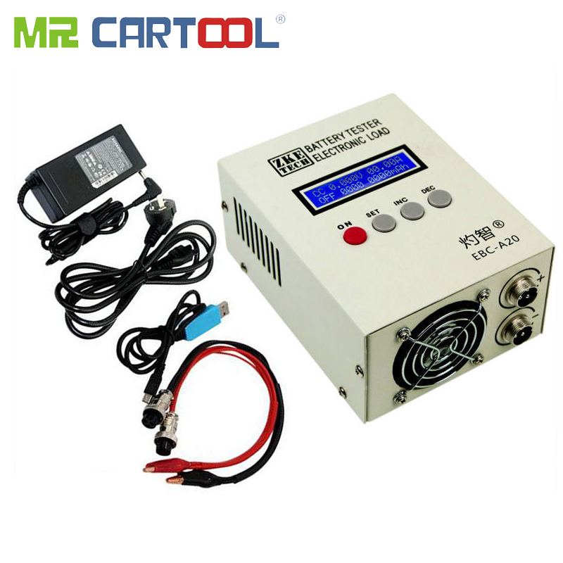 EBC-A20 Battery Tester 30V 85W Lithium/Lead Acid Battery Capacity Tester Electronic Load PC Software Control