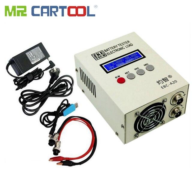 Probador de batería de EBC A20 30V 85W, probador de capacidad de batería de litio/ácido de plomo, carga electrónica, Control de Software de PC