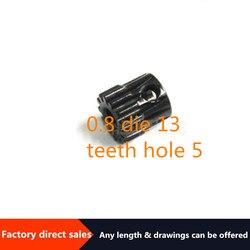 Gran oferta, módulo 0,8, orificio para 13 dientes, motor 40cr, punto dentado, equipo industrial de procesamiento personalizado