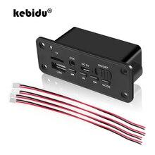 Kebidu Bluetooth MP3 placa decodificadora WMA DC 5V Módulo de Audio USB TF Radio inalámbrico de FM RECEPTOR DE MP3 jugador 2x3 W amplificador de coche