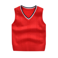 Children Vests Sweaters 3-10 Years Cotton Vest Children Top Quality Sleeveless Sweaters Kids Boys Pullover Knitting Vest Coat retail top quality brand new fashion coat baby children kids vest