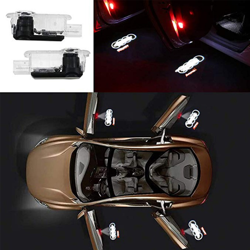 2pcs For PEUGEOT Car LED Door Welcome Logo Light Laser Decoration Shadow Projector Light For Audi A8 2004-2017 A7 2012-2017 A5