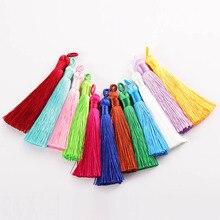 10pcs 8-9cm Colorful Cotton Silk Tassel Brush Earring Charm Making Sati Tassels Pendant Diy Jewelry Findings Handmade Materials