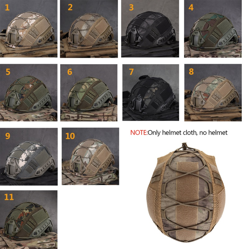 Airsoft Hunting Tactical Helmet Cover CS Wargame Sport Helmet Cover For Ops-Core PJ/BJ/MH Type Fast Helmets