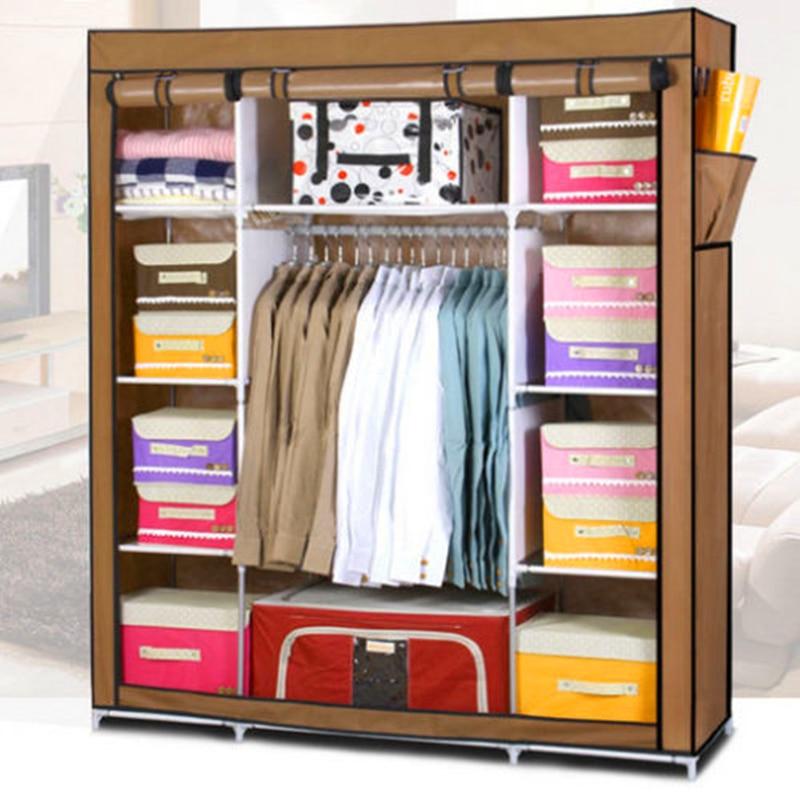 Super Large Reinforced Portable Home Wardrobe Storage Hanger font b Closet b font Organizer Rack New