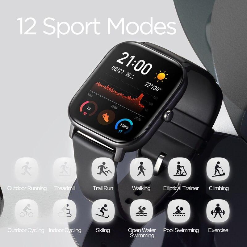 Versión Global nuevo reloj inteligente Amazfit GTS 5ATM impermeable natación Smartwatch 14 días batería Control de música para Xiaomi teléfono IOS - 5