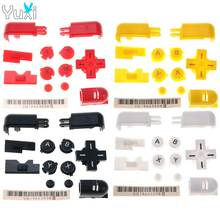 YuXi Red Black Clear Replacement ABXY L R D Pad Cross Button Full Button Set For Nintend DS Lite For NDSL Console Buttons Kit стоимость