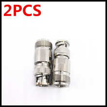 2PCS Copper BNC/N-JK RF adapter L16 master to BNC public Q9 N extension line connector
