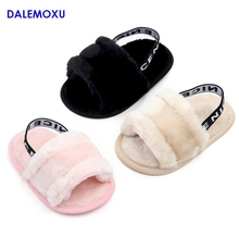 Spring And Summer Autumn Fashion Fur Sandals Baby Popular Shoes Toddler Sneakers Boy Girl Indoor Soft Bottom Casual Infant