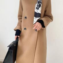 Women's wool coat winter new fashion long coat 100% wool