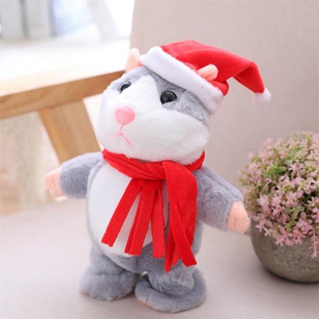 Talking Hamster Mouse Pet Christmas Toy Speak Talking Sound Record Hamster Educational Plush Toy for Children Christmas Gift 4