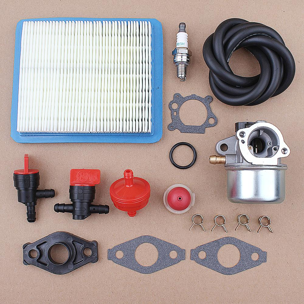 Carburetor For Briggs /& Stratton 799868 498254 497347 Air Filter Kit 498170