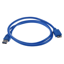 SuperSpeed USB 3.0 Cable, Type A to Type B Micro, M / M, 3 FT, Blue цена и фото