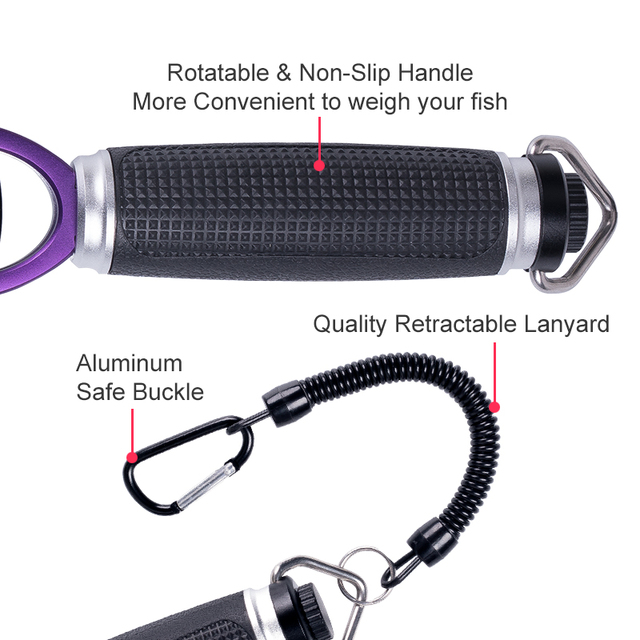 KINGDOM Fish Lip Gripper with Scale 28LB Fish Grabber Made From Corrosion-Resistant Aluminum alloy & Rotatable & non-slip handle 4