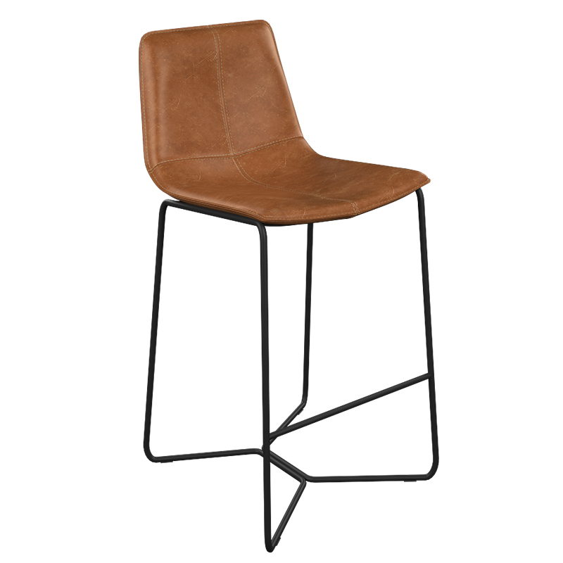 Nordic Iron Bar Chair Bar Ktv Office Front Desk Special Chair Creative High Foot Bar Chair Simple Leather Bar Chair
