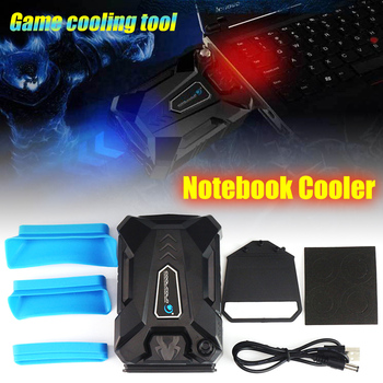 Portable Notebook Laptop Cooler USB Air External Extracting Strong Cooling Fan For Laptop Speed Adjustable For 15 15.6 17 Inch mini portable vacuum usb laptop cooler air extracting exhaust lcd temperature display cooling fan cpu cooler for notebook laptop