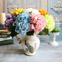 Hydrangea Branch Artificial Flowers Home Wedding Decor Autumn Silk Plastic Flower Fake Flower Party Room Decoration garland flowers wedding decoration artificial hydrangea vine party plastic flowers wall decor rattan silk flower wisteria wreath